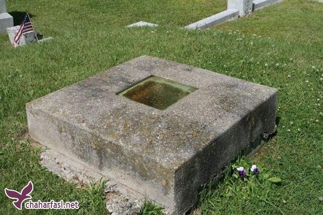 این قبر عجیب پنجره شیشه ای دارد!