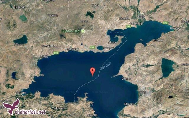 قلعه پریان، قلعه درون دریاچه وان ترکیه